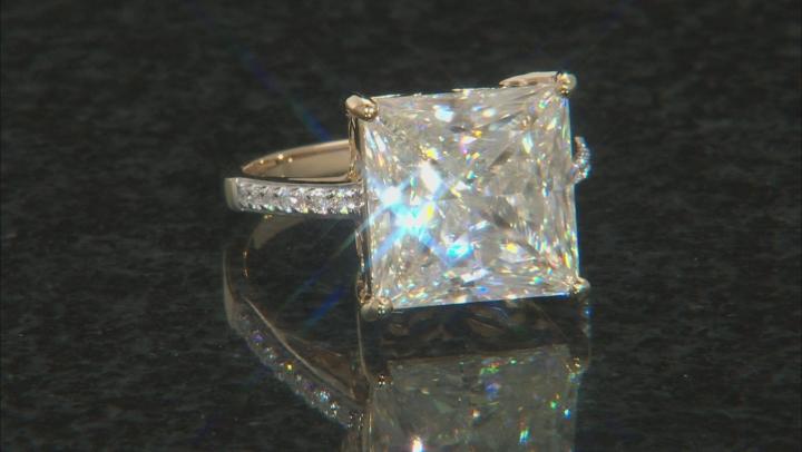 Moissanite 14k Yellow Gold Ring 8.49ctw DEW.