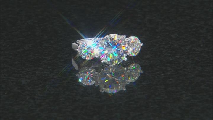 Moissanite 14k White Gold Ring 8.87ctw DEW