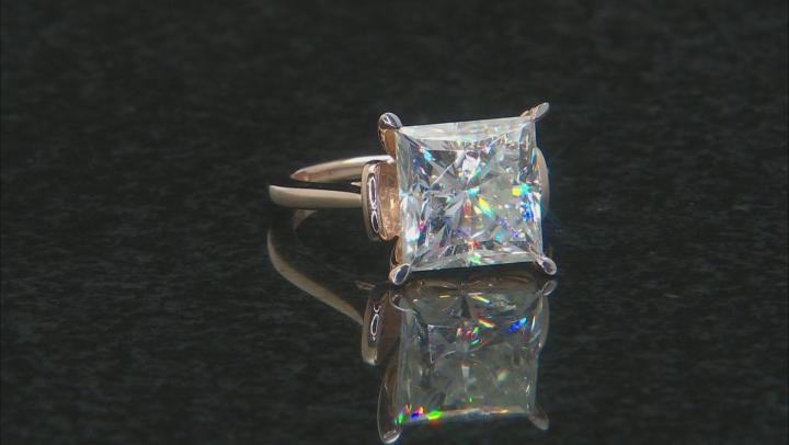 Moissanite 14k Yellow Gold Ring 9.09ct DEW