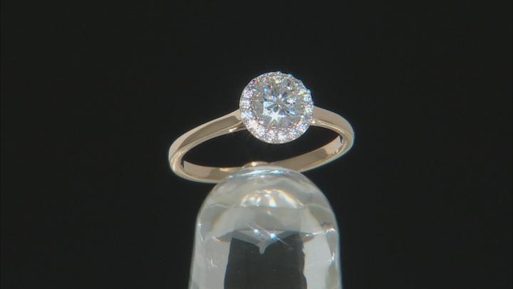 Moissanite 14k Yellow Gold Ring .78ctw DEW.