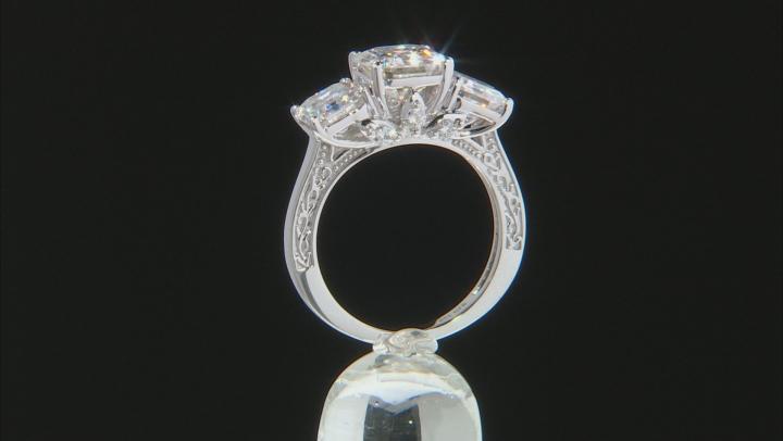 Moissanite 10k White Gold Ring 6.20ctw DEW.