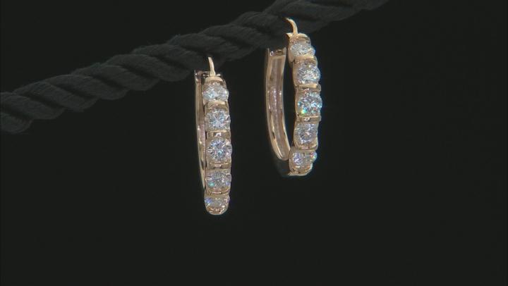 Moissanite 10k Yellow Gold Hoop Earrings 1.00ctw DEW.