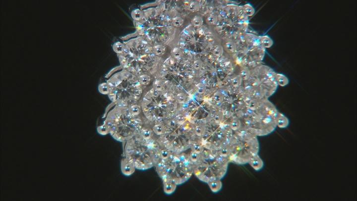 Moissanite 14k White Gold Pendant 1.38ctw DEW.