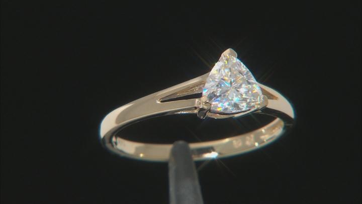 Moissanite 14k Yellow Gold Ring .70ct DEW.