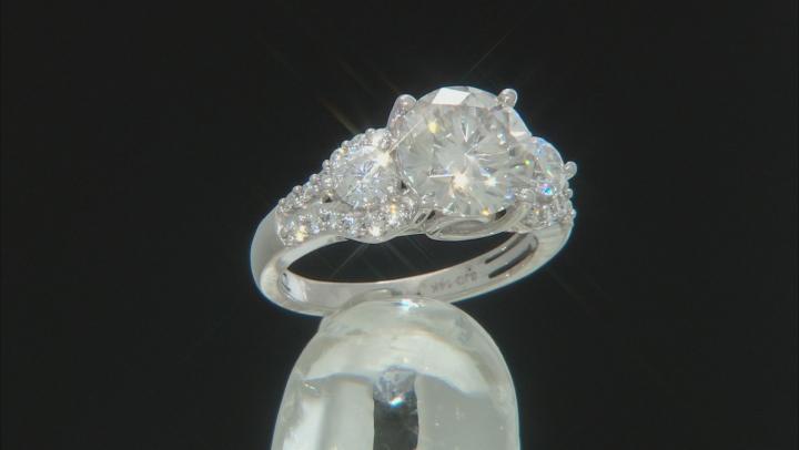 Moissanite 14k white gold ring 3.40ctw DEW.
