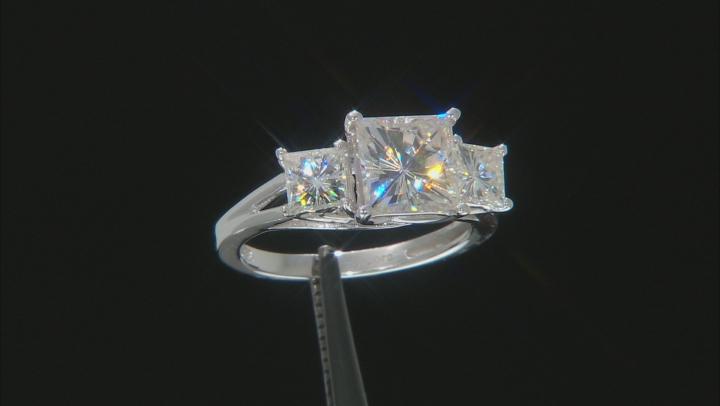 Moissanite 14k white gold ring 3.70ctw DEW.