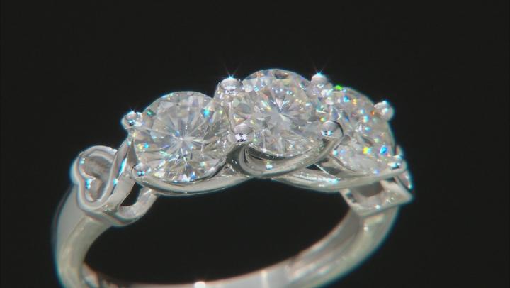 Moissanite 14k White Gold Ring 2.40ctw D.E.W