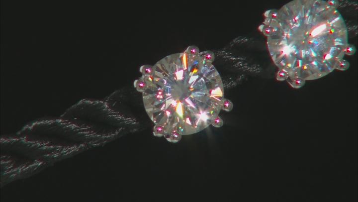 Moissanite Platineve Stud Earrings 3.00ctw