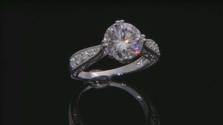 Moissanite Platineve Ring 4.10ctw DEW