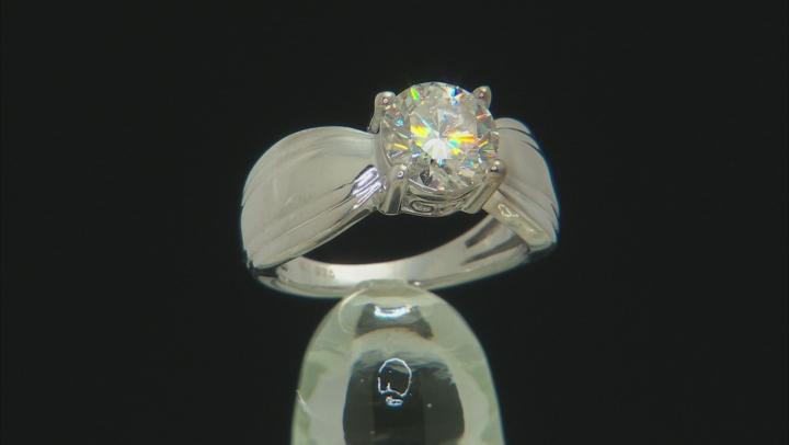 Moissanite Platineve Ring 2.04ctw DEW