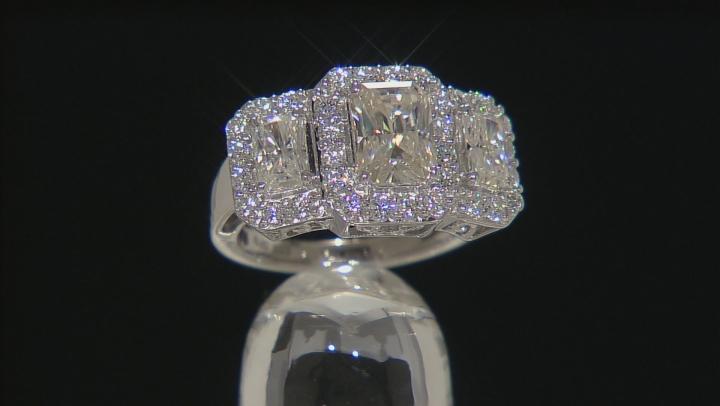 Moissanite Ring Platineve™ 3.94ctw DEW