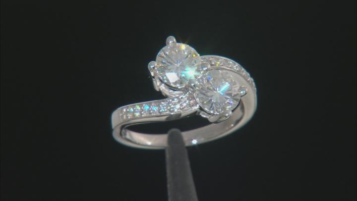 Moissanite Ring Platineve™ 2.16ctw DEW