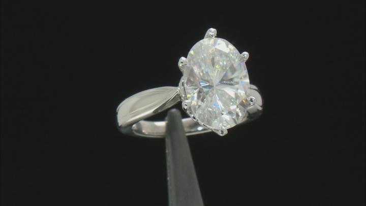Moissanite Ring Platineve™ 7.22ct DEW