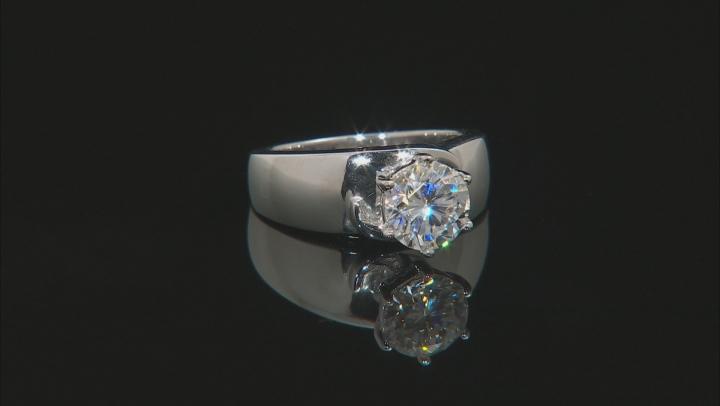 Moissanite Platineve Ring 1.90ct DEW