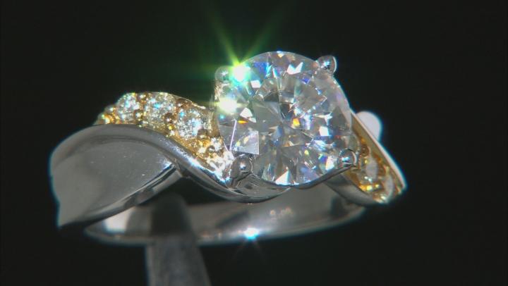 Moissanite And Yellow Diamond Ring Platineve™