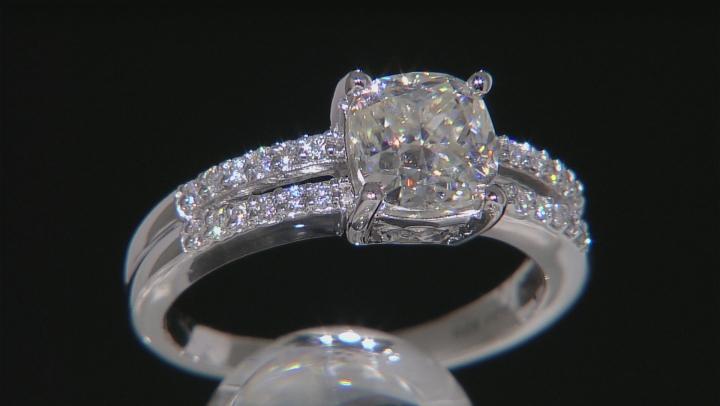 Moissanite Ring Platineve™ 2.24ctw DEW