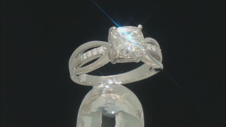 Moissanite Ring Platineve™ 2.08ctw DEW