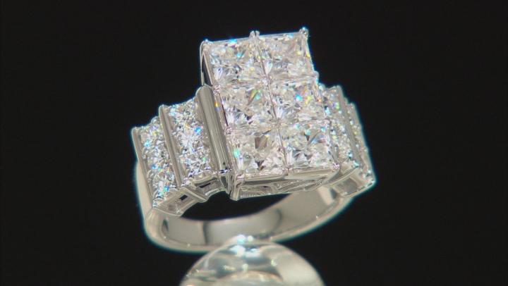 Moissanite Ring Platineve™ 4.20ctw DEW