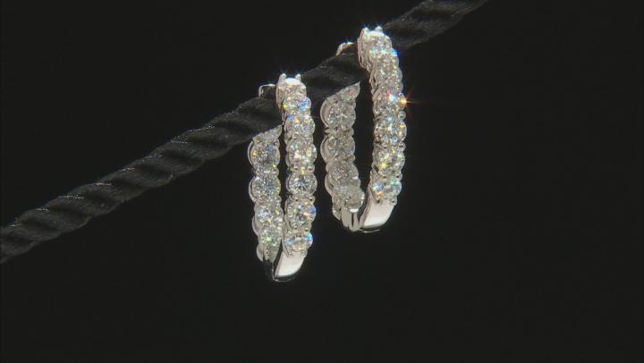 Moissanite Earrings Platineve™ 3.84ctw DEW