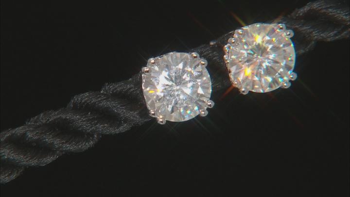 Moissanite Stud Earrings Platineve 2.40ct DEW
