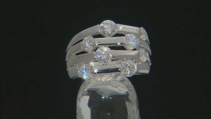 Moissanite  Platineve Ring 2.00ctw DEW