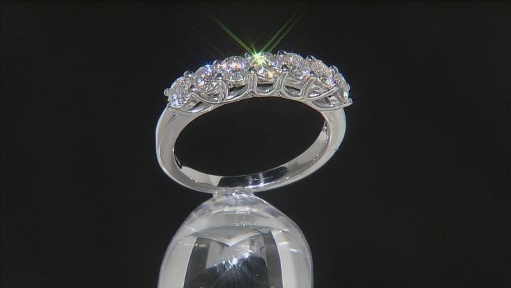 Moissanite Ring Platineve™ 1.12ctw DEW
