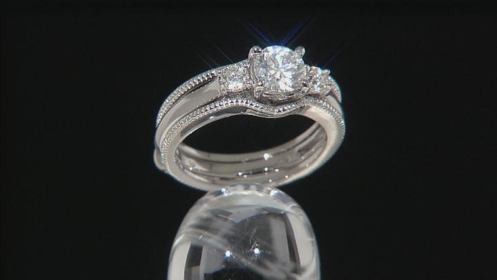 Moissanite Platineve Ring 1.06ctw D.E.W
