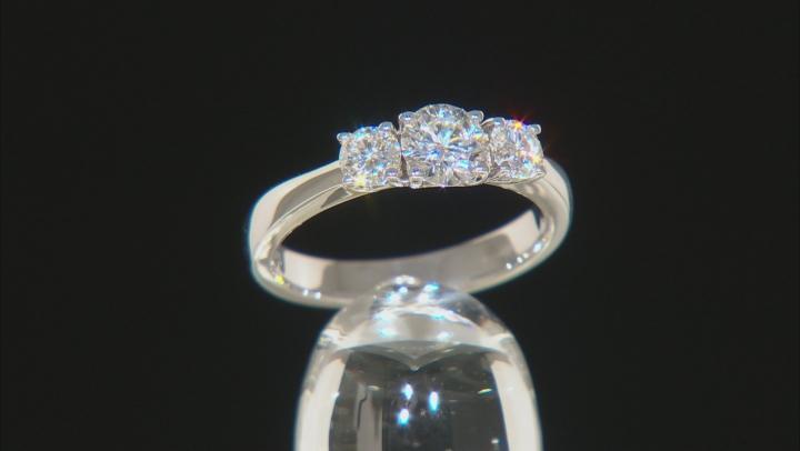 Moissanite Ring Platineve® 1.06ctw DEW