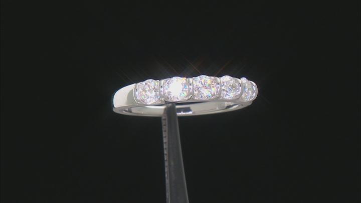 Moissanite Platineve Ring .80ctw DEW