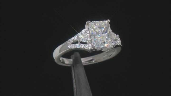 Moissanite Ring Platineve™ 3.04ctw DEW