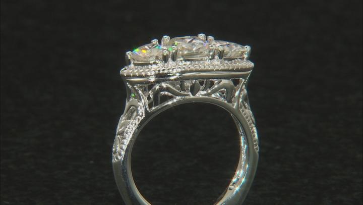 Moissanite Platineve Ring 2.30ctw D.E.W