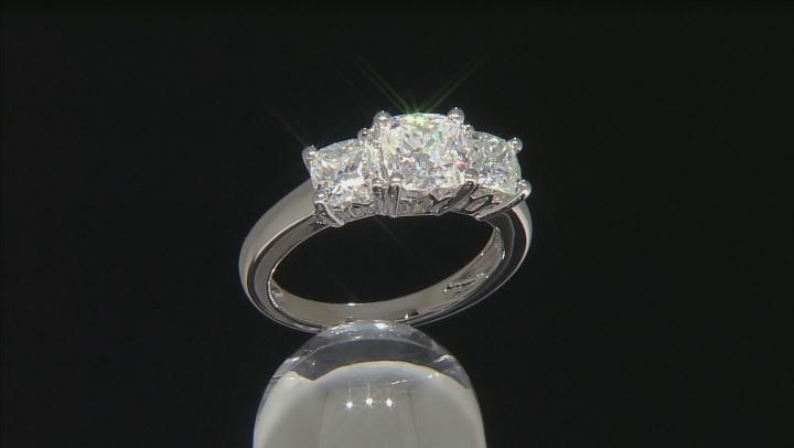 Moissanite Platineve Ring 2.50ctw D.E.W