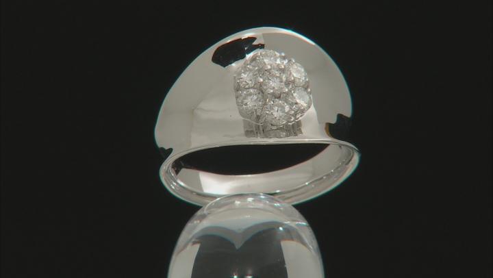 Moissanite Platineve Ring .70ctw DEW