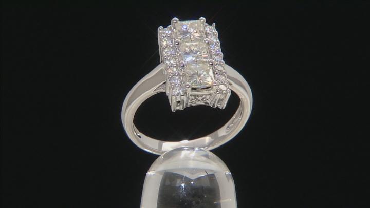 Moissanite Platineve Ring 2.22ctw D.E.W
