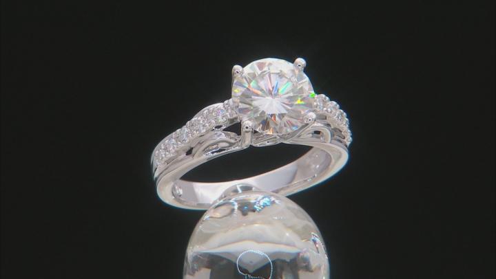 Moissanite Platineve Ring 2.92ctw D.E.W