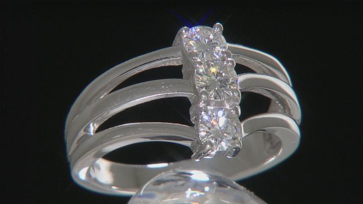 Moissanite Platineve Ring .69ctw DEW
