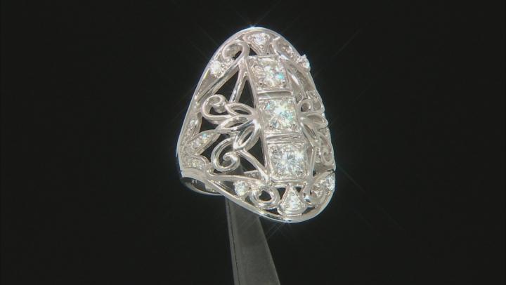Moissanite Platineve Ring 1.41ctw DEW