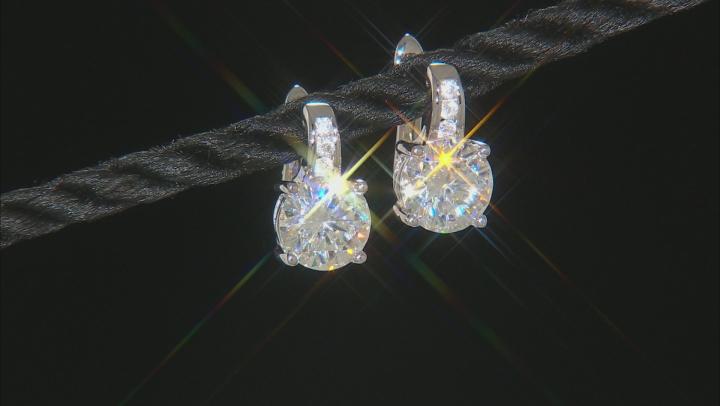 Moissanite Earrings Platineve 3.92ctw DEW
