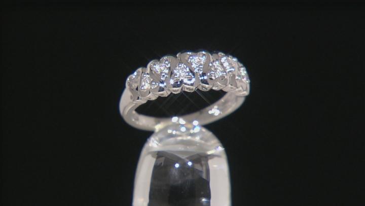 Moissanite Platineve Ring .21ctw D.E.W