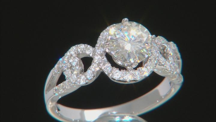 Moissanite Platineve Ring 1.72ctw D.E.W