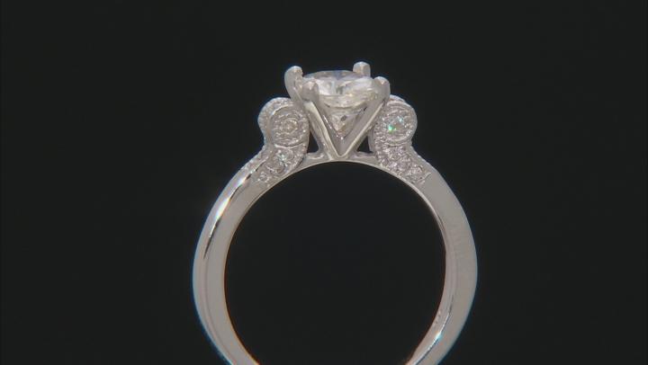 Moissanite Platineve Ring 1.62ctw D.E.W