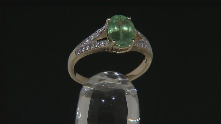Green Kyanite 10k Yellow Gold Ring 2.12ctw