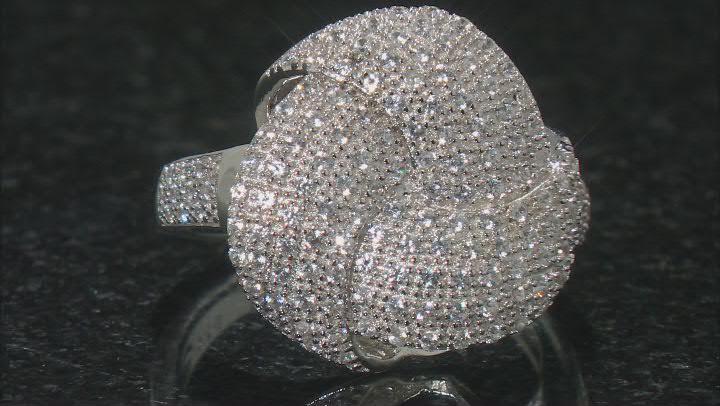 White Zircon Rhodium Over Sterling Silver Ring .89ctw