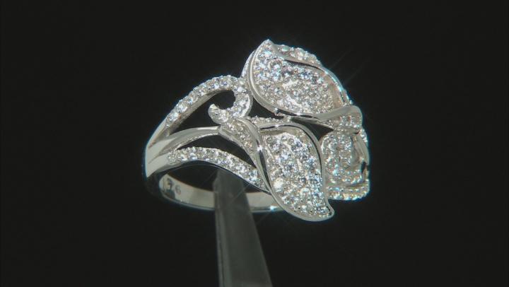 White Zircon Rhodium Over Sterling Silver