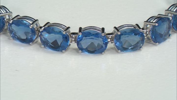 Multicolor Color Change Fluorite Rhodium Over Sterling Silver Bracelet 31.50ctw