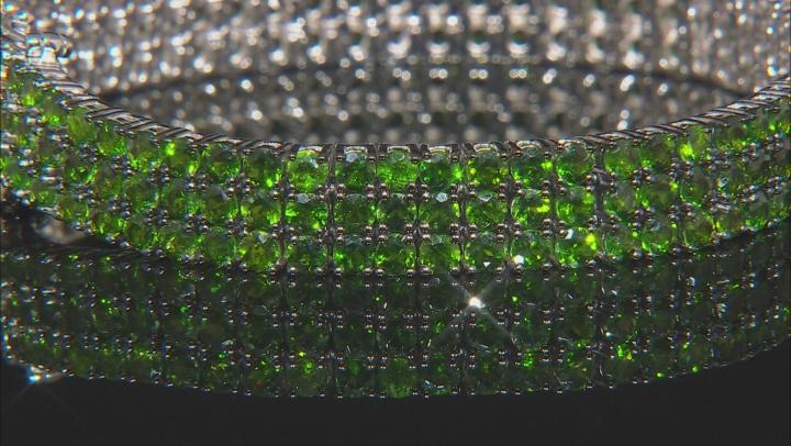 Green Chrome Diopside Rhodium Over Silver Bracelet 20.88ctw