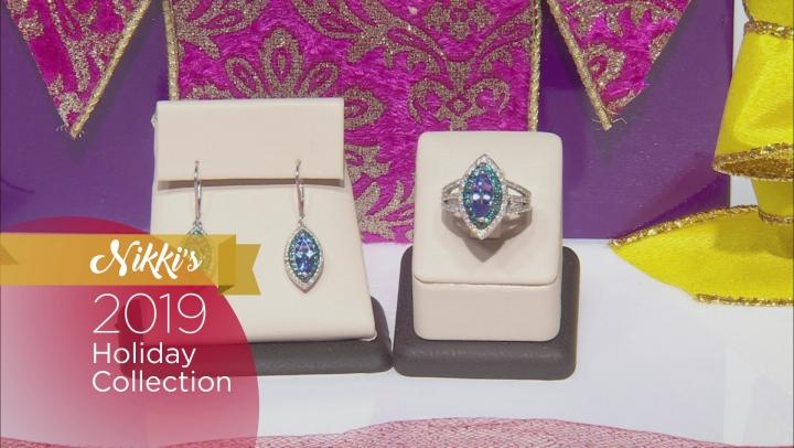 Blue Tanzanite Rhodium Over Silver Earrings 2.72ctw