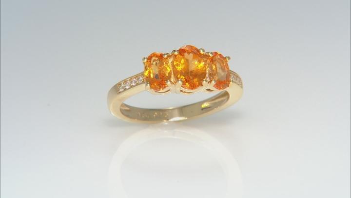 Orange spessartite 18k yellow gold over silver ring 1.81ctw