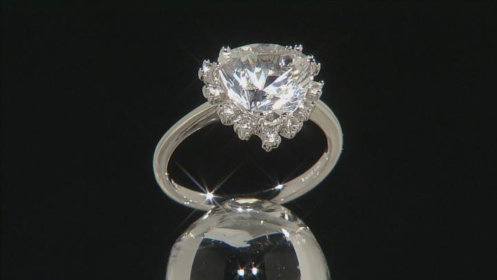 White Danburite 10k White Gold Ring 3.34ctw.