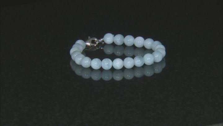 Blue aquamarine sterling silver bracelet